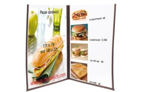 DOUBLE A4 MENU HOLDER